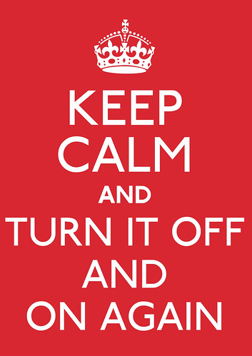 Keep calm and turn it off and on again by Adam Bowie
