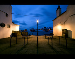 Come... Take a seat... Enjoy the view! (Chee Seong) Tags: uk longexposure canon evening scotland chair edinburgh post seat wires shore bluehour firthofforth forthbridge southqueensferry canon1022mm explore8 400d explorefrontpagethanks