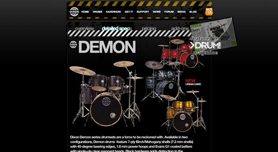 Dixon Drums Website
