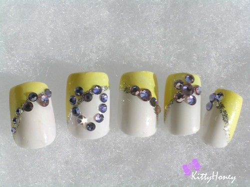 Japanese Nail Design with lemon