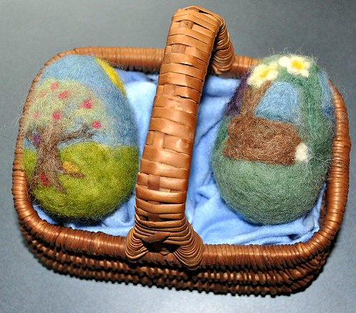 Needle-felted Easter Eggs