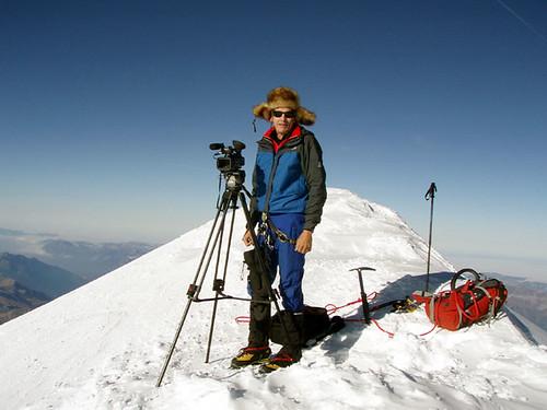 Michele sulla cima Monte Bianco WEB