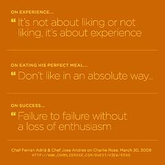 Chef Ferran Adrià & Chef Jose Andres quotes