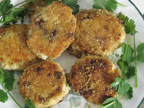 Passover meat-stuffed potato patties