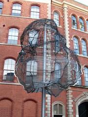 City Art (Dun.can) Tags: nottingham windows sculpture building tree art college modern factory steel historic redbrick lacemarket adamsbuilding newcollegenottingham