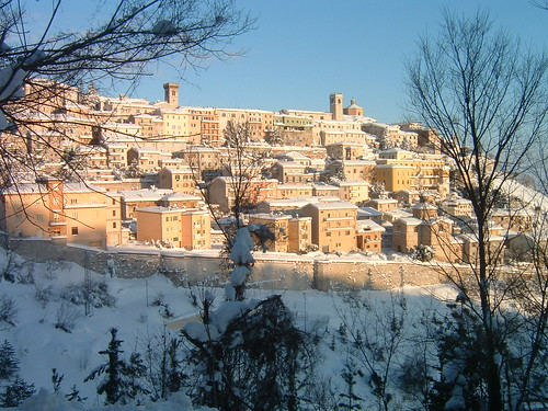 arcevia sotto la neve 1 all rights reserved taken in italy marche ...