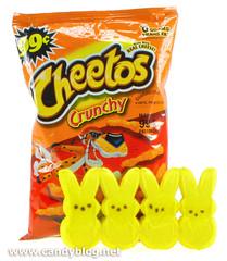 Peeps + Cheetos