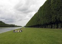 Versailles Gardens 6 (fellowapeman) Tags: france garden canal picnic grand versailles hedge