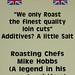 Mike Hobbs roasting chef.