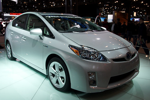 Small cars, like this Toyota Prius, are ideal candidates for hybrid conversion. But what about trucks?