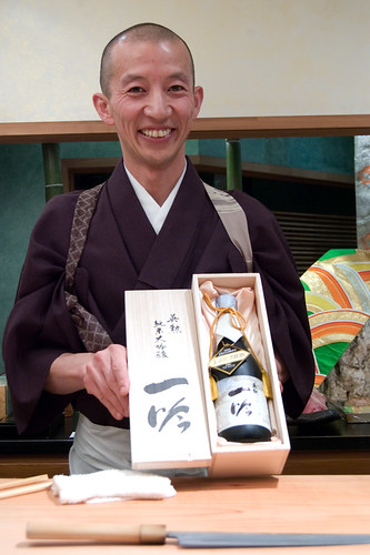 Hiro displaying his Ichigin Sake