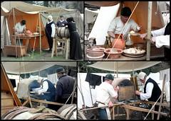 Baker... (Kotomi_) Tags: uk england history collage bread baking costume play picasa bowl tent medieval bakery jug historical kiln warwick canoneos350d period reenactment warwickcastle wotrf warsoftherosesfederation