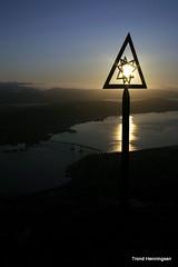 Midnight Star (Trond Henningsen) Tags: bridge norway sculptures midnightsun troms