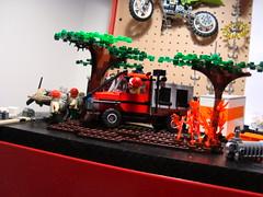 Sneak peak of the redone Brush truck (Ricecracker.) Tags: truck fire lego fig mini brush figure minifig preview minifigure redo minifigscale