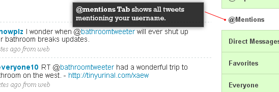 Add a page that displays tweets mentioning your username