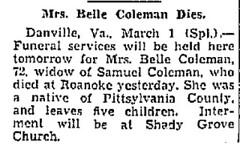 Isabelle D. Goodson Coleman (1861-1934)