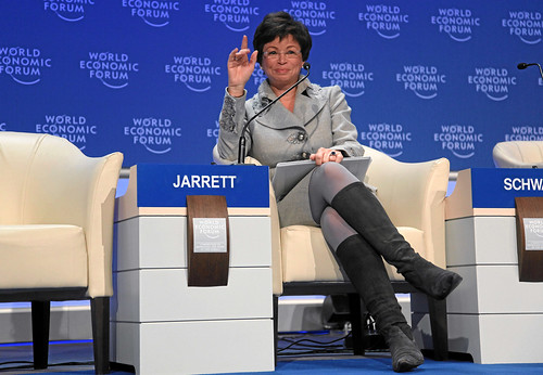 Valerie B. Jarrett, Assistant to President Obama for Intergovernmental Relations and Public Liaison {img: WEF swiss-image.ch/Photo by Monika Flueckiger }