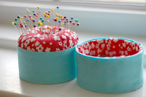 Pincushion and pin cup