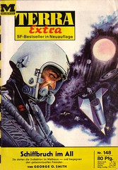 Terra Extra 148 (micky the pixel) Tags: sf space astronaut raumschiff planet scifi sciencefiction spaceship terra weltall havarie schiffbruch georgeosmith zukunftsromane groschenromane moewigverlag