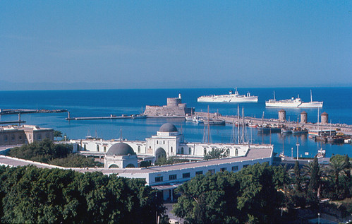 Rhodes - Harbor with Cruise Ships by roger4336, on Flickr