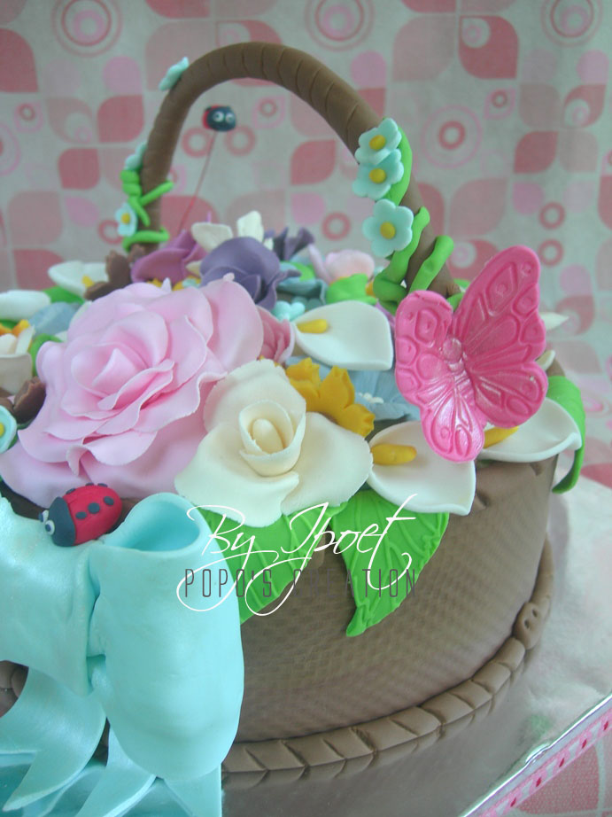 Basket Flower's Cake