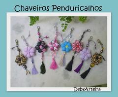 Chaveiros Penduricalhos (debyarteira) Tags: patchwork penduricalhos chaveiros