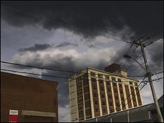 Urban Storm (Tim Noonan) Tags: urban storm art clouds digital photoshop buildings effects eyes factory manipulation poles mosca treatment maxfudge awardtree maxfudgeexcellence graphicmaster maxfudgeawardandexcellencegroup daarklands