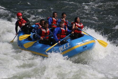 rafting outdoors