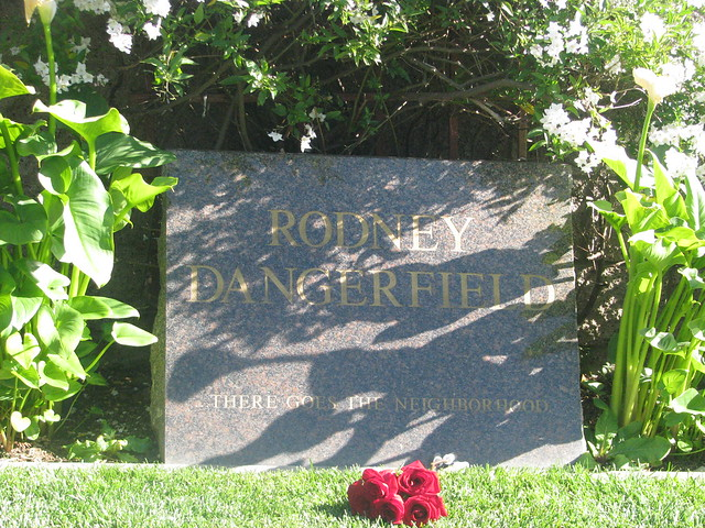 Rodney Dangerfield's grave.Pierce Bros Westwood Village Memorial Park. Los Angeles. CA.USA. April 2009 by The Horror