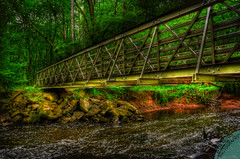 Bridge (Aftab Asghar) Tags: bridge green water beautiful forest virginia photo amazing woods picture dreamy hdr aftab d90 hdrphoto hdrpicture besthdr nikond90 amazinghdr hdrnikond90 photoshopcs4hdr hdrvirginia wonderfulhdr aftabasghar worldbesthdr virginiasbesthdr