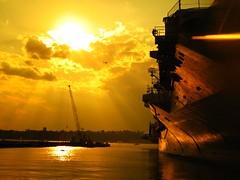 New York, Harbor (Docski) Tags: new york sunset usa sun america harbor vs enterprise amerika