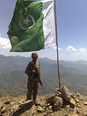 Raising the flag in Swat