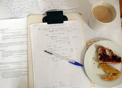 sunday morning (lem_monade) Tags: coffee breakfast bread honey mathematics jam studying topology augsburg caffèlatte