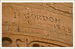 (898) lettering....I was here! / Karnak Temple (Luxor) Egypt (unicorn 81) Tags: africa old history architecture geotagged northafrica egypt relief lettering graffito egipto karnak luxor 2009 gypten egitto egypte egypten rundreise roundtrip amun egipt gypte scribbling iwashere archologie nordafrika theben kritzelei egypttrip nonverbal heiligtum april2009 gypten luxortempel  gyptusintertravel gyptenreise graffitoverzierung graffitodecoration inciseddecoration meinjahr2009