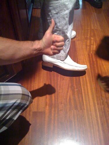 Scott approves Paulie's shoe choice