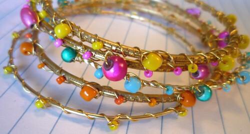 handmade beaded bangles.