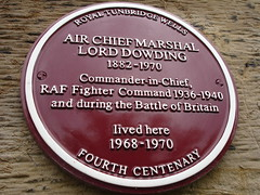 Photo of Hugh Dowding claret plaque