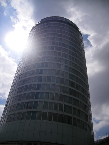 Rotunda, Birmingham - with sun flare