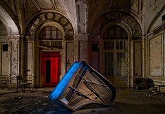 The Blue Notes (Noel Kerns) Tags: plaza abandoned night hotel ruins michigan detroit piano grand lee ballroom