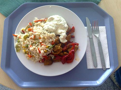 Gyros mit Gemüsereis