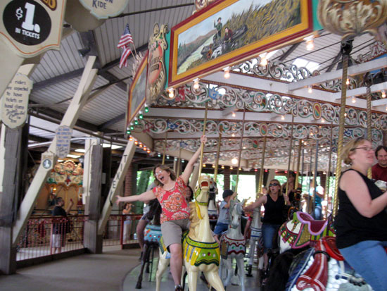 Alyce on the Grand Carousel (Click to enlarge)