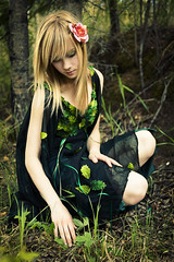 (Arianna Biasini) Tags: portrait green girl forest fairy ravine 28 nymph fairie faeire temnafialka