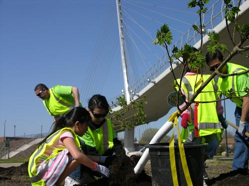 2011 Arbor Day Greenway planting prep work