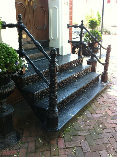 Beautiful As You Can See, Many Have Similar Cast Iron Stairs With Slight Variations  In The Newel Posts, Risers Or Paint Color.