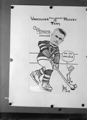 Vancouver (Millionaires) Hockey Team, Vancouver Hockey Club [copy of photo/caricature of C. Uksila]