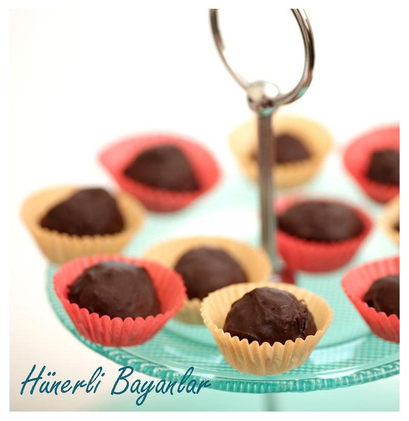 Cevizli Çikolata Truf (walnut chocolate truffles) 3