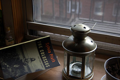 Day 41/365 - inner outer (Mattron) Tags: window book cloudy fireescape lantern windowsill sylviaplath thecolossus