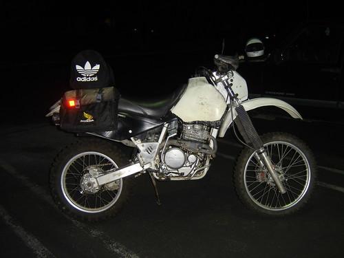 1996 Honda XR600R Bags Mock Up,motorcycle, sport motorcycle, classic motorcycle, motorcycle accesorys