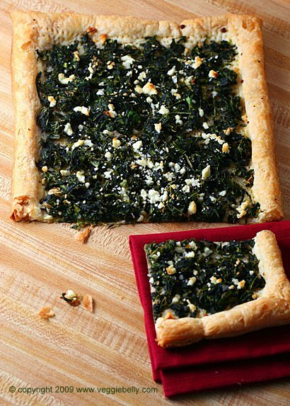 Open-faced Spinach and Feta Boreks