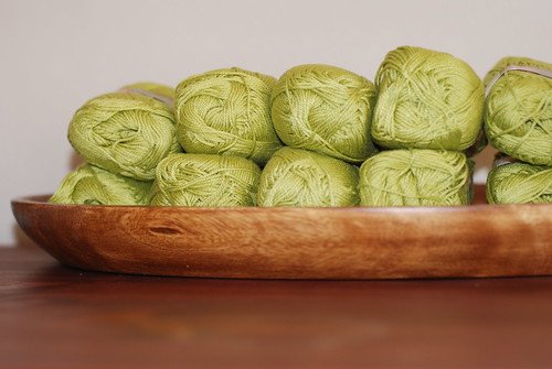 Green 100% cotton yarn by you.